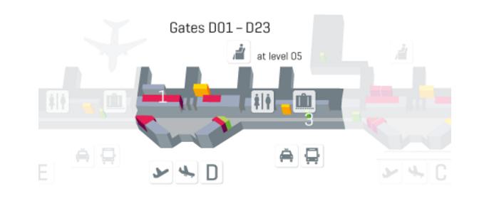 Terminal 1 module D level 4